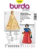 Burda 2480 Schnittmuster Kostüm Fasching Karneval für Prinzessin & Schneewittchen (Kids, Gr. 104-134) - Level 2 leicht