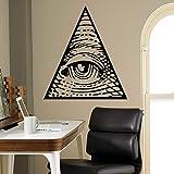 Mode familie kunst wandaufkleber auge pyramide wandtattoo logo aufkleber dekoration wohnzimmer wandbild haushaltswaren a10 59 * 57 cm