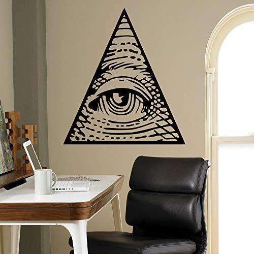 Mode familie kunst wandaufkleber auge pyramide wandtattoo logo aufkleber dekoration wohnzimmer wandbild haushaltswaren a14 59 * 57 cm -