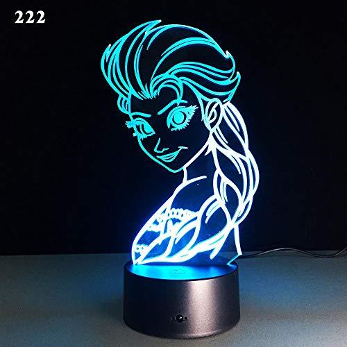 Preisvergleich Produktbild xdl home store 3D Illusion Lampe Nachtlicht optische Lampe Schreibtischlampe Cartoon kleine Tischlampe Acryl führte Nachtlicht USB-Plug-in,  222,  Mehrfarbig :,  Bluetooth-Audio