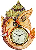 #8: Vkcollection Wooden Wall Clock for home Latest Design for Living Room Decorative Wall Clock 12x12 Inch (multicolor)