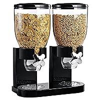 Questi due dispenser di cereali o altri alimenti secchi impediscono che vadano a male e contengono circa 500 grammi di cibo ciascuno. Adatti per una vasta gamma di alimenti secchi tra cui caramelle, granola, noci, riso o chicchi di caf...
