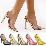Fashion Thirsty Chaussures à Talons Aiguilles - Femme - Plexiglas Transparent - habillé/Kim K