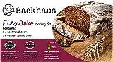 BACKHAUS FlexBake® Silikon Kastenform – Brotbackform & Teigschaber – Premium BackSet in Platin Silikon (23cm-Rot) - 8