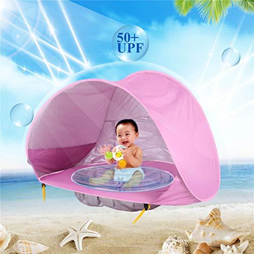 KINGEE-P Outdoor Automatische Pop Up Strand Zelt Tragbare Cabana Schatten Planschbecken UV Schutz Sun Shelter Blau für Familie Garten Camping Picknick Angeln Zeiten,Pink - Blau Cabana