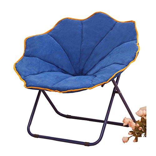 Accueil/Tabouret pour meubles de loisirs intérie Bleu Grande Taille Chaise Plagée Pause Déjeuner Fold Dossier Fauteuil inclinable d'été Canapé Nap durable par BZEI-Chair