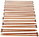Foxnovo Bamboo Knitting Needles Set 36Pcs 18 Sizes From 2mm to 10mm