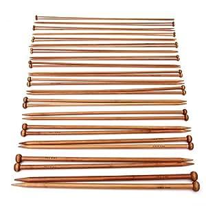 PIXNOR SuntekStore Online-Ferri per lavorare a maglia a punta singola, in bambù, uncinetto, Ferri per lavoro a maglia, 2 mm, 10 mm, 36