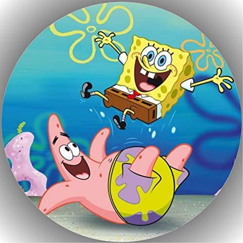 Fondant Tortenaufleger Tortenbild Geburtstag Spongebob T3