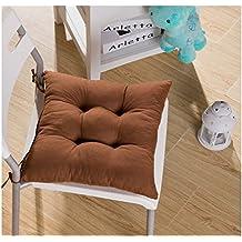 tia-ve suave silla cojín asiento cojín asiento silla de comedor de jardín de cocina 40x 40x 8cm, color morado, café, Coffee1