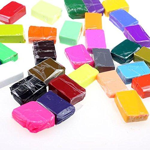 jieGREAT Räumungsverkauf  , 5 Werkzeuge + 32 Farben Polymer Clay Fimo Block Modellierung Moulding DIY Spielzeug