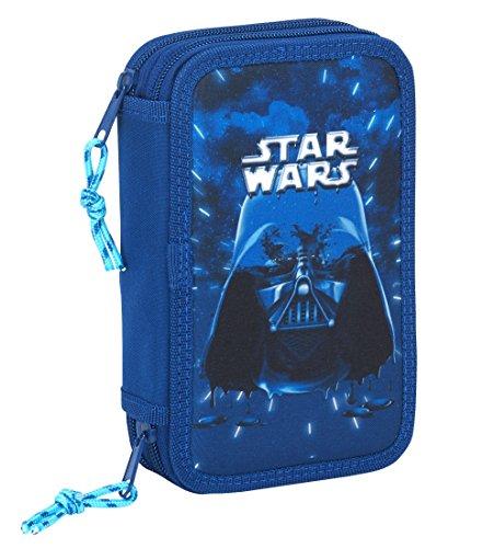 Star Wars SAFTA Estuche Neon Oficial Escolar Incluye 28 Útiles 125x40x195mm