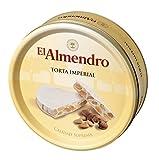 El Almendro - Torta Imperial - Hartes Mandelnougat mit ganzen Mandeln Metallverpackungen - Höchste Qualität - 600gr