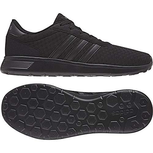 adidas Herren Lite Racer DB0646 Sneaker, Schwarz (Black, 49 1/3 EU Da-lite 49