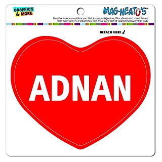 MAG-NEATO'S(TM) Car Refrigerator Vinyl Magnet I Love Heart Names Male A Aaro - Adnan