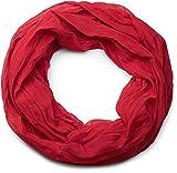 styleBREAKER leichter unifarbener Loop Schlauchschal, seidig/Unisex 01016076, Rot