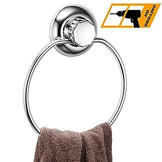MaxHold Sistema de vacío Toalleros de aro – No-perforar – Acero Inoxidable Nunca Moho – Almacenamiento de la Cocina&baño