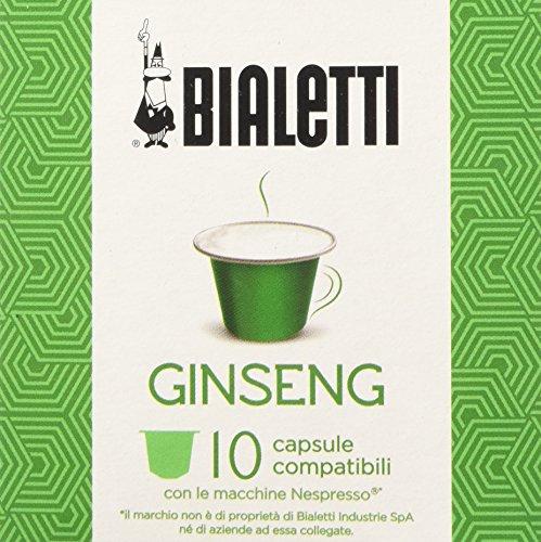 Bialetti 9 box da 10 capsule compatibili - ginseng