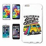 Reifen-Markt Handyhülle iPhone 5 / 5S California SUPER Surfer SURFEN Beach Surfbrett Longboard Wellenreiten Wellen ANFÄNGER Shop Hardcase Schutzhülle Handycover Smart Cover für Apple iPhone in Weiß