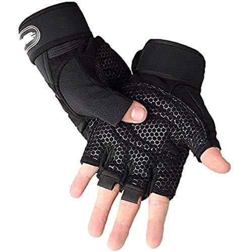 Onever guanti per sollevamento pesi da palestra allenamento fitness allenamento fitness bodybuilding traspirante con supporto per il polso ideale come guanti da ciclismo o per sollevamento, crossfit