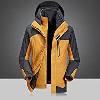 Jackets Men 'S Three-In-One Waterproof Breathable Jacket Demolition Two-Piece Climbing Outdoor Clothing