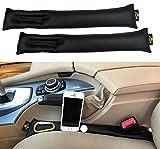 Car Seat Gap Filler - Universal Autositz Lückenfüller von El Jefe (2 Stück) Organiser| Auto Zubehör - Geeignet für PKW und SUV – bis Max. 6mm |Auto Lückenkissen mit Sicherheitsgurt -Schlitz
