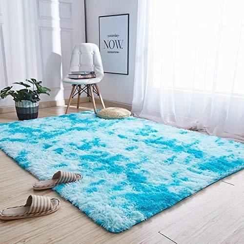 C&y silky tie-soggiorno tappetini tappetini moquette, 4.5cmtappeti a pelo lungo,blu sfumato, 160.×230cm