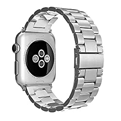 For Apple Watch Strap 38mm, Simpeak Stainless Steel Band Strap For Apple Watch 38mm Series 1 Series 2 Series 3 - Silver