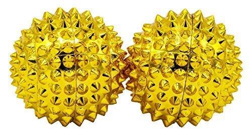 1 paar magnetische Akupressurkugeln in gold klein, Durchmesser 32 mm