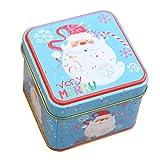 Kicode Vollbart 1 Stück Platz Weihnachten Eisen-Kasten mit Lids Biskuit-Süßigkeit-Kasten Wedding Supplies