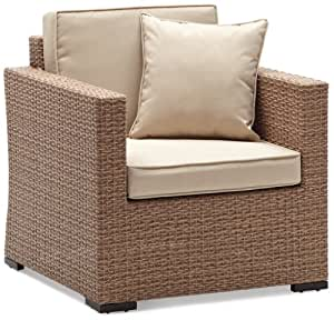 strathwood griffen all weather wicker chair natural