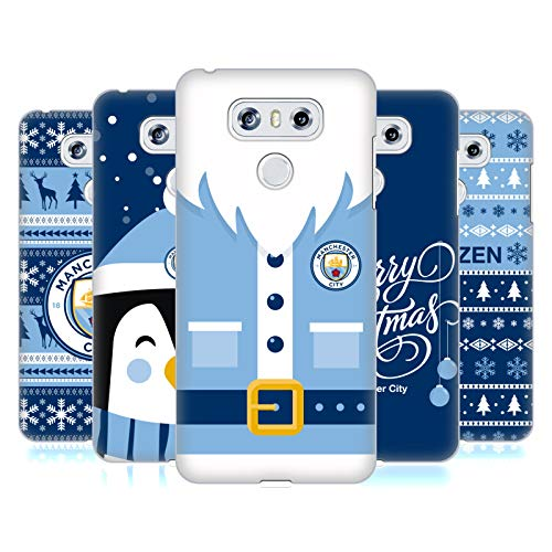 Head Case Designs Officiel Manchester City Man City FC Noël Étui Coque D'Arrière Rigide pour LG Téléphones 1