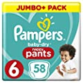 Pampers Baby-Dry Pants Size 6 Nappy Pants