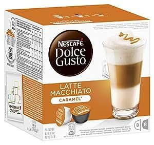 Nescafé Dolce Gusto Latte Macchiato Caramel Kaffeekapseln, 3er Pack (3 x 16 Kapseln)