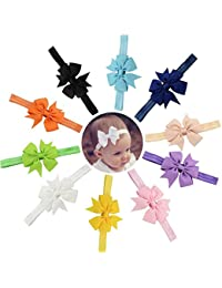 Skudgear Baby's Satin Head Bands (Super Pack of 10 Multicolor)