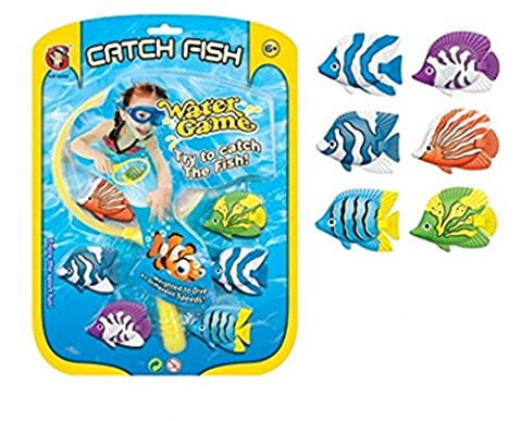 6 Pack Catch Fish Water Game Diving Game Children Swimming Fun Pool Games