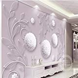 Tapeten Wandbild Wandaufkleberbenutzerdefinierte Foto 3D High-Definition Kleine Frische Yuya Dreidimensionale Hortensie Papier Wand Dekoration Wand Papier, 250 * 175 Cm