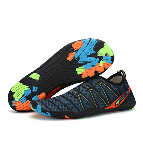 Komfort-top Socken (Voovix Herren Damen Wasserschuhe Schnell Trocknende Aqua Schuhe Slip-On Skin Schuhe Swim Beach Socken(Grün, 41EU))