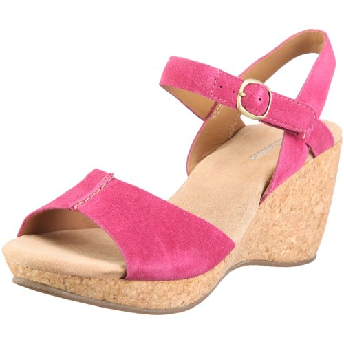 Clarks 20343847 Patience Kelly, Damen Sandalen/Fashion-Sandalen, Pink (Raspberry), EU 41, (UK 7)