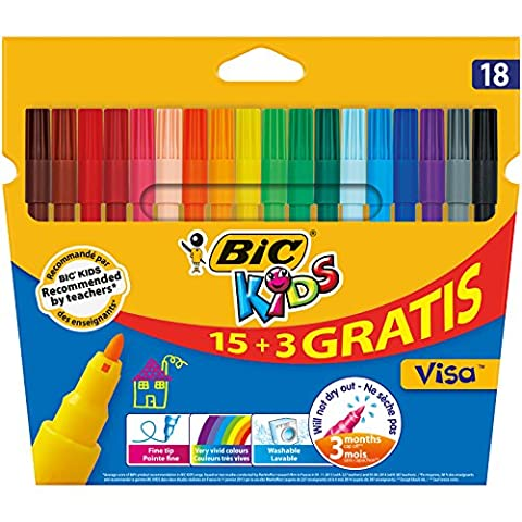 Velleda Feutres - BIC Kids Visa Feutres de Coloriage -