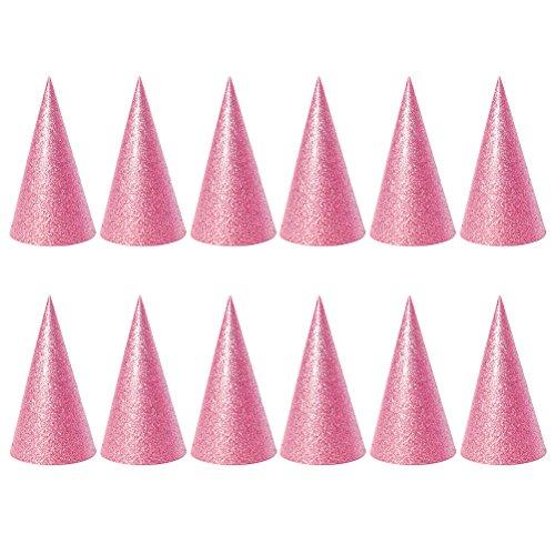 TOYMYTOY Partyhüte Geburtstagshüte für Kinder Erwachsene Silvester Geburtstag Party Fotografie Glitter 12 Stücke