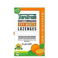 TheraBreath Dry Mouth Lozenges, Mandarin Mint Flavor, 100 Lozenges