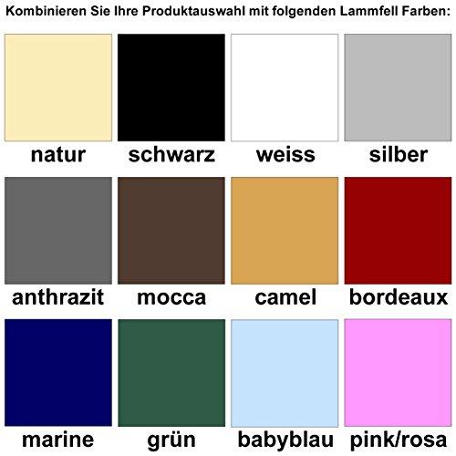 Engel-Reitsport-Lammfell-Satteldecke-Stoff-mocca-Sadek-1-farbenfroh-mit-12-Lammfell-Farben-kombinierbar