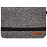DuneDesign 13.3'' Borsa feltro Notebook 35x24cm Custodia Laptop Tablet MacBook iPad Surface Netbook Grigio