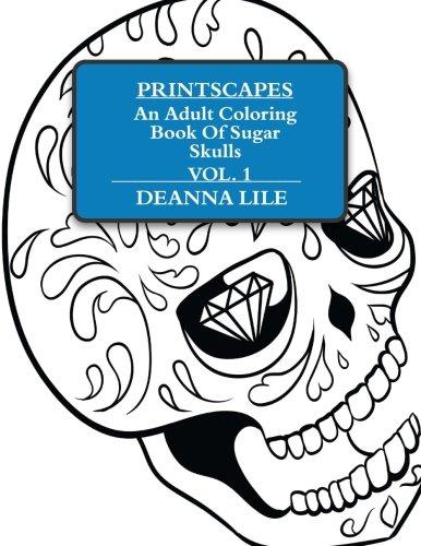Printscapes: An Adult Coloring Book Of Sugar Skulls Vol 1 Depression Glass Set