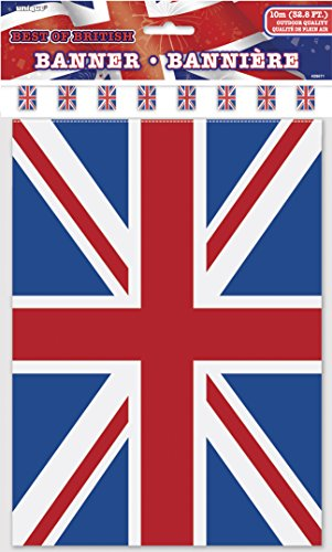 32ft Plastic Best of British Union Jack Bunting