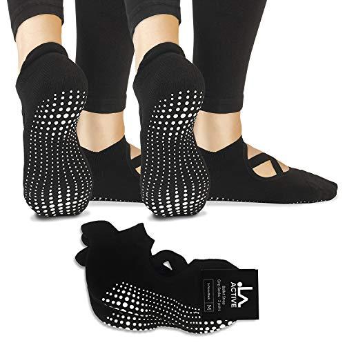 LA Active Yoga Socken – Yoga Pilates Stange Barre Grip Abs Noppen Rutschfeste – Pointe