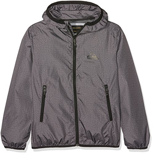 Quiksilver Jungen Everydayjackety Everyday Wasserabweisender Windbreaker, Dark Grey Heather, M/12