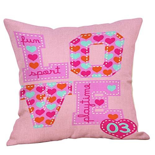 Dorical Funda De Almohada Cuadrada 45 * 45 Cm Moda Simple Suave Dulce Lindo Amor Patrón De Coche Sofá Decorativo En Casa Cojín Regalo
