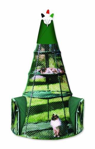 Kittywalk Teepee Katzengehege für den Außenbereich, Grün